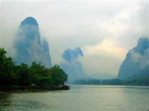 Misty Rain in the Li River
