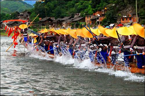 Dragon Canoe Festival of Miao Ethnic Minority