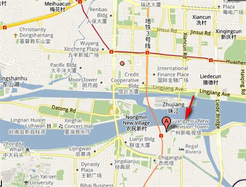 Location of Canton Tower