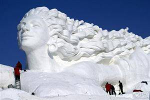Snow Sculpture on the Sun Island