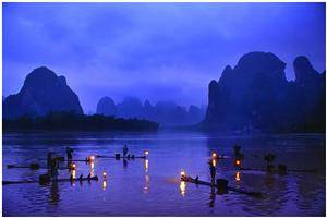 Yangshuo Fishing Lights Festival during Dec.12-15 in 2012