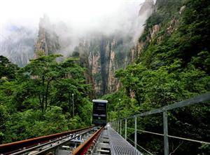 New Yellow Mountain Sightseeing Cable Car opens to See West Sea Grand Canyon in June 9th in 2013