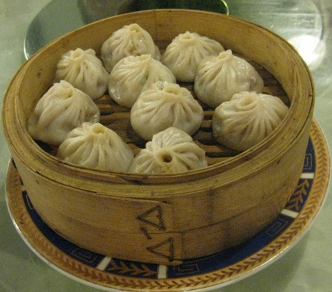 Steamed Buns With Fresh Meat In A Small Steamer