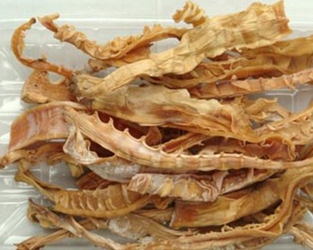 Dried Bamboo Shoot In The Shape Of Goat Tail