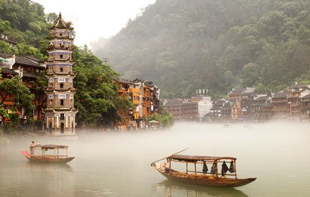Fenghuang Ancient Town in Hunan Province