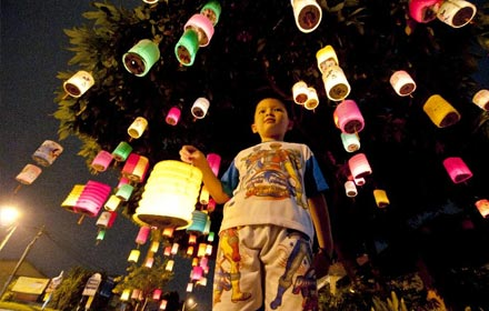 Playing with Lanterns