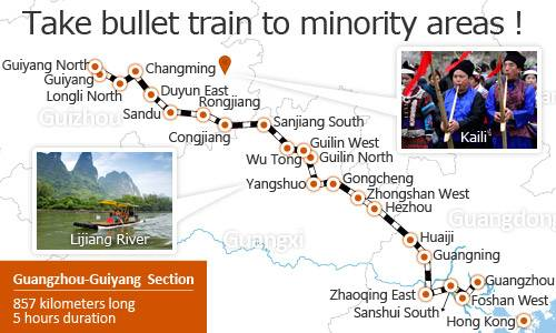 Take Bullet Train to Minority Areas