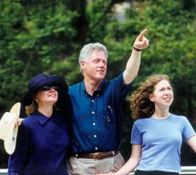 President Clinton and his family