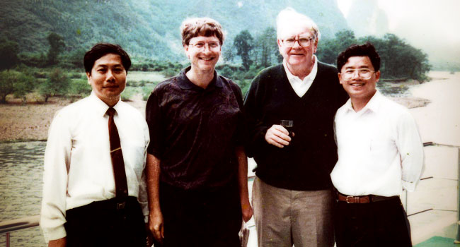 Bill Gates & Warren Buffet visited Guilin with Us