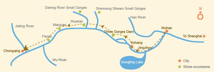 Upstream: Wuhan > Chongqing (6 days)