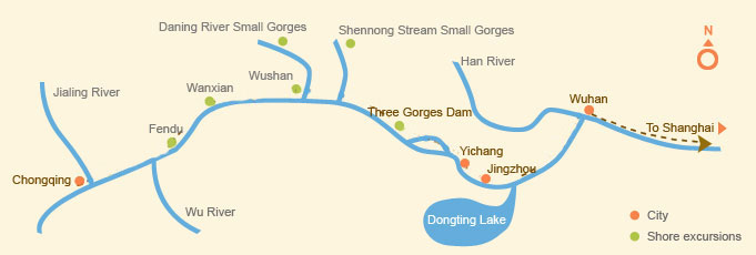 Downstream: Wuhan > Shanghai (4 days)