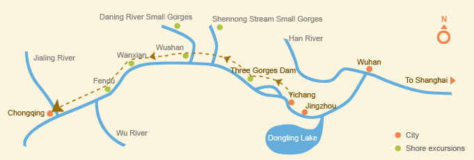 Upstream: Yichang > Chongqing (5 days)