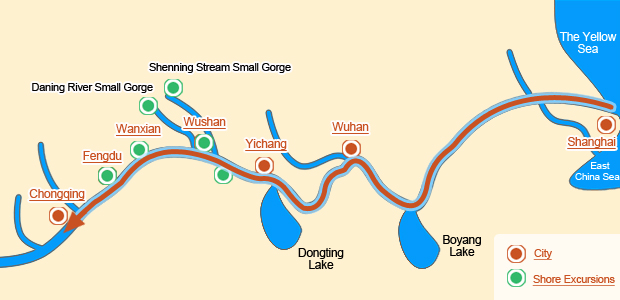 Upstream: Shanghai > Chongqing (9 days)