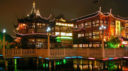 Shanghai Yuyuan Garden by Night