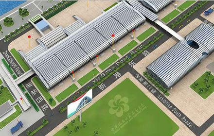 3-D Map of Canton Fair Complexes