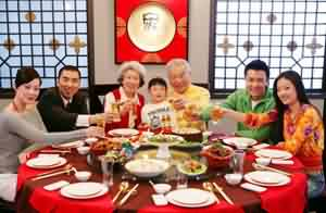 Chinese New Year Eve: Family's reunion dinner