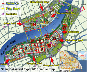 Shanghai Expo Map