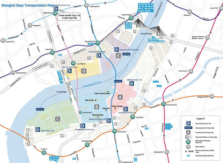 Shanghai Expo Transportation Map