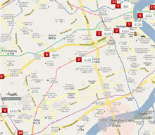 Shanghai Expo Hotel Map