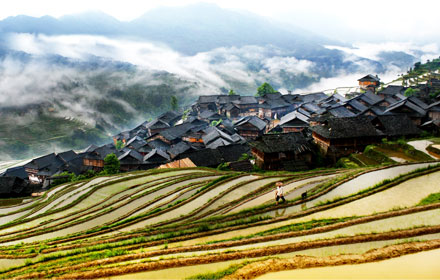 Jiabang Terraced Fields in the Southeastern Guizhou Province