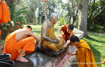 Washing the Buddha