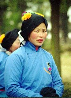 A Very Fetching Luzhi Woman, if Not Entirely Comfortable With Being Photographed