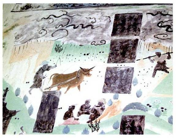 Mogao Grotto #23: Ploughing in the Rain