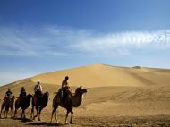 Riding Camel in Mingsha Mountain