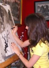 Learn Chinese brush drawing