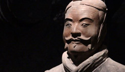 A clay soldier of the Terracotta Army in Xi'an