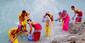 Water Splashing Festival in Xishuangbanna
