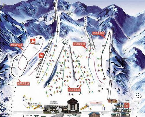 Huaibei Ski Resort Map