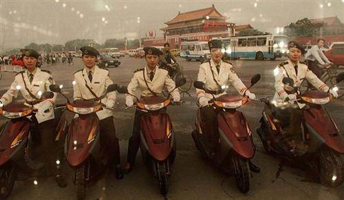Tiananmen Square in the 1990's