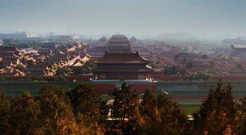 See the forbidden city from Jingshan Park