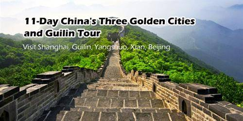 11-Day China's Three Golden Cities and Guilin Tour