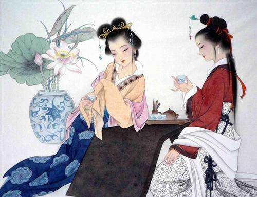 Drinking Tea in Ancient China